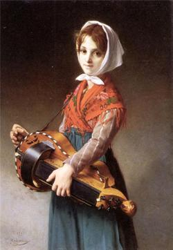 "Jules Richomme ""The hurdy-gurdy girl"" 1879"